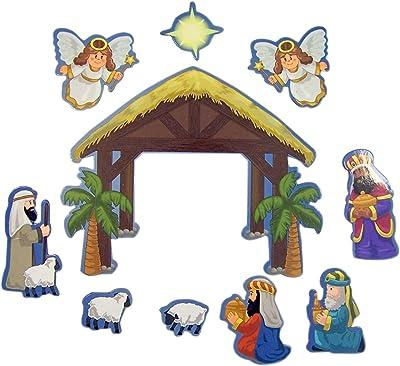 Children's Christmas Nativity Flexible Magnet Set for Sunday School Storytelling, 4 Inch