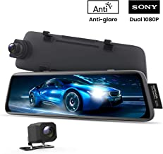 $169 » AUTO-VOX V5 Mirror Dash Cam Front and Rear,No Glare Stream Media Rear View Mirror Camera with 9.35'' Full Laminated Touch Screen, 1080P Super Night Vision Backup Camera,GPS Tracking, Parking Mode
