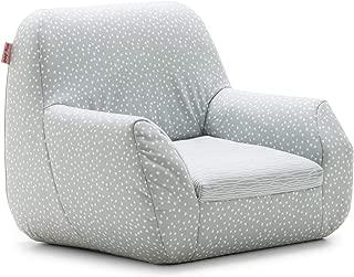 Big Joe Mid Mod, Lenox Gray Stripes and Dots Kid's Chair