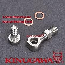 Kinugawa Banjo Bolt Kit M10x1.25 4AN w/ 1.5mm Restrictor Compatible with Greddy TD04H TD05