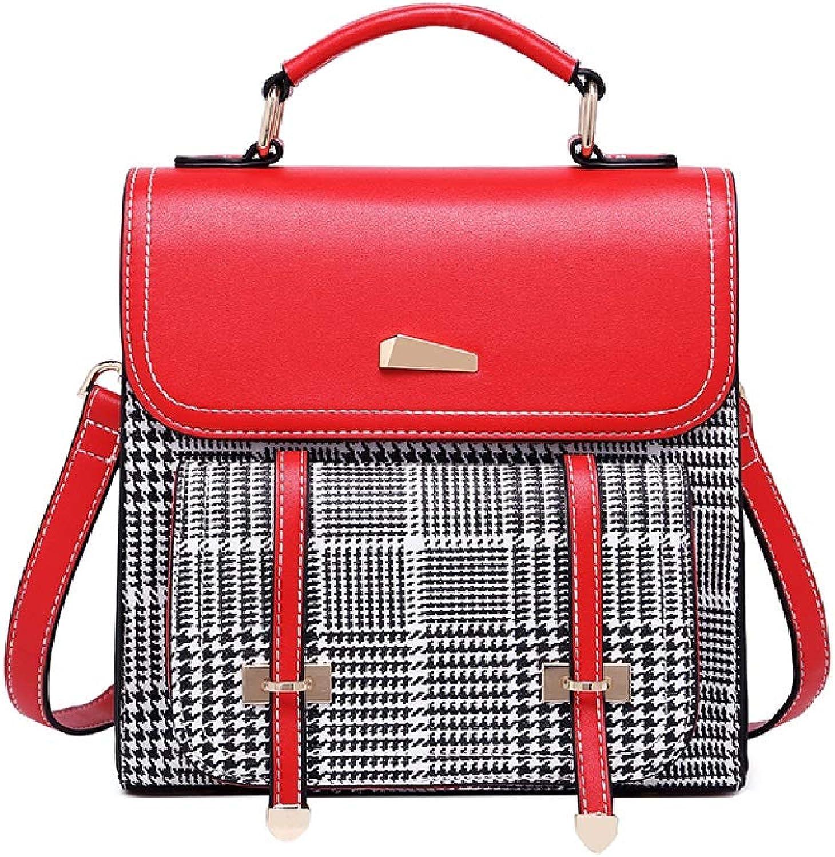 C&S Einfacher Gitter-Rucksack-Dame Leisure Outdoor Shopping Multifunktions-Mode-Einzelne Schulter-Schultasche PU-haltbares Material