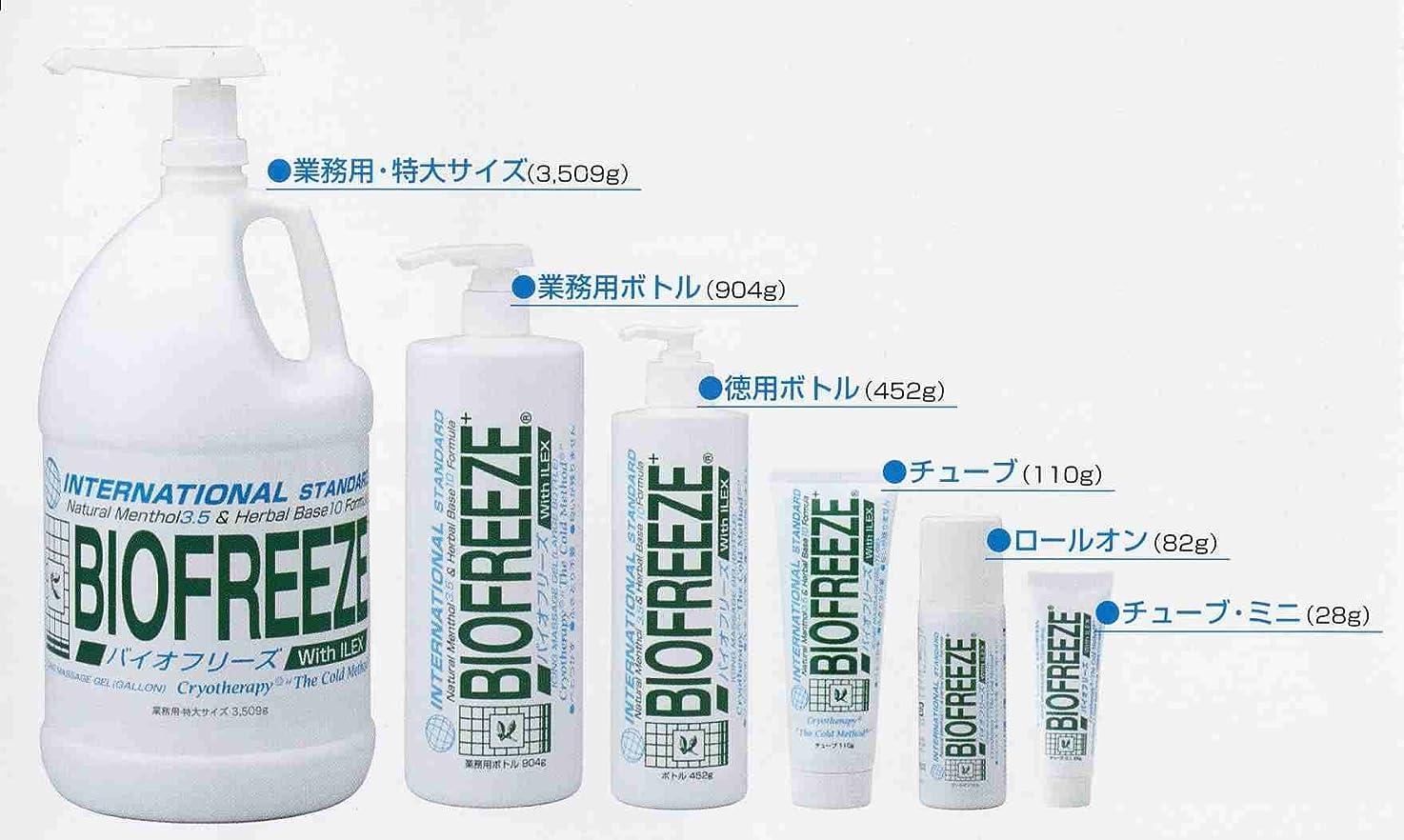 スピン証人日焼けバイオフリーズ(BIOFREEZE) 904g - ボディ用、業務用ボトル!