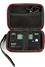 LuckyNV Carrying Travel Storage Case Bag for Korg TM-50 TM50BK Instruments Tuner Metronome Recorder fits Clip-On Microphone