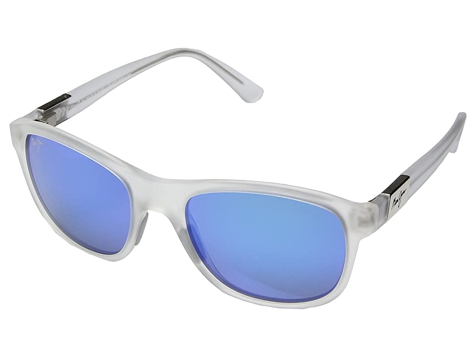 Maui Jim Wakea (Frosted Crystal/Blue Hawaii) Athletic Performance Sport Sunglasses