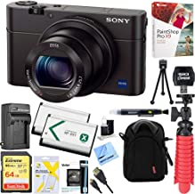 Sony Cyber-Shot DSC-RX100 III 20.2 MP Digital Camera - Black + 64GB SDXC Memory Dual Battery Kit + Accessory Bundle