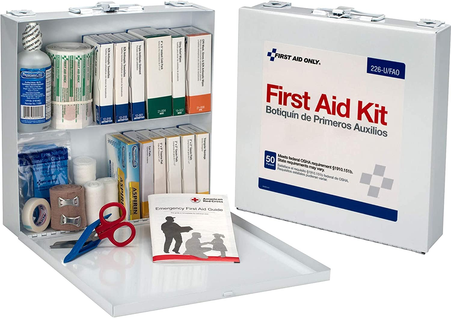 List price First Aid Only Bulk Kit Quantity limited 226-U FAO Metal Case