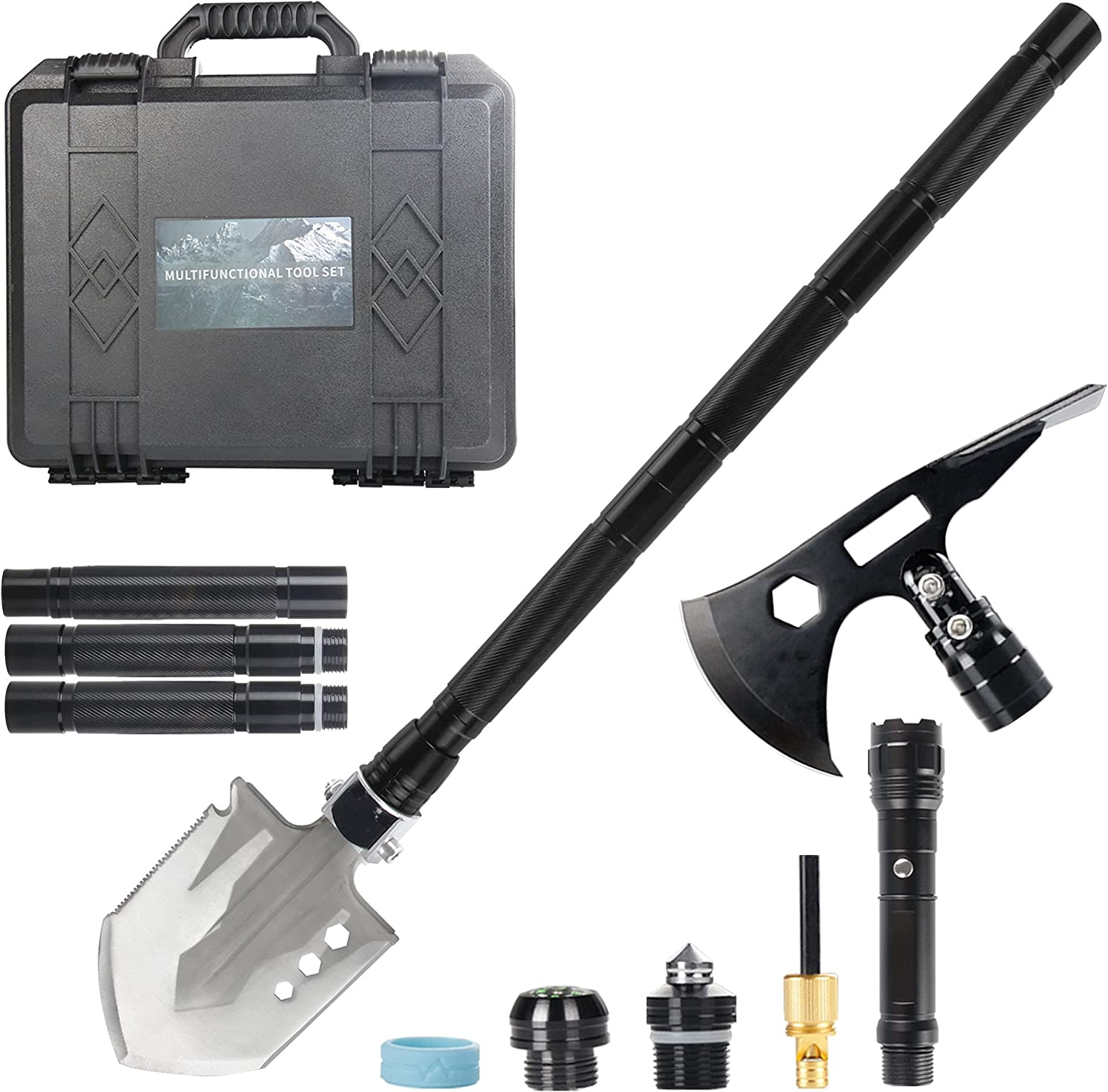 Clearance SALE Over item handling ☆ Limited time The7boX Portable Survival Shovel Camping with Box Folding
