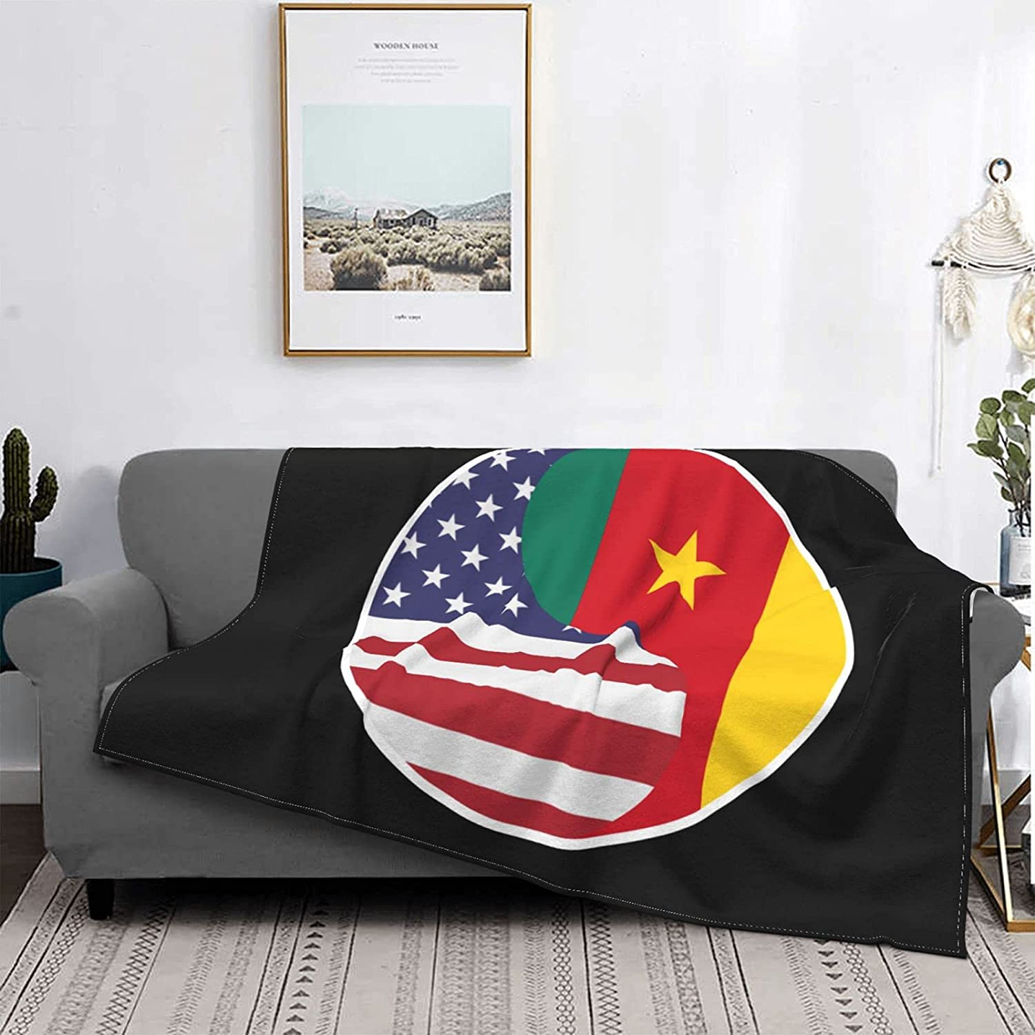Yin Yang Flag Combination of America W Soft Max 67% OFF Easy-to-use and Blanket Cameroon