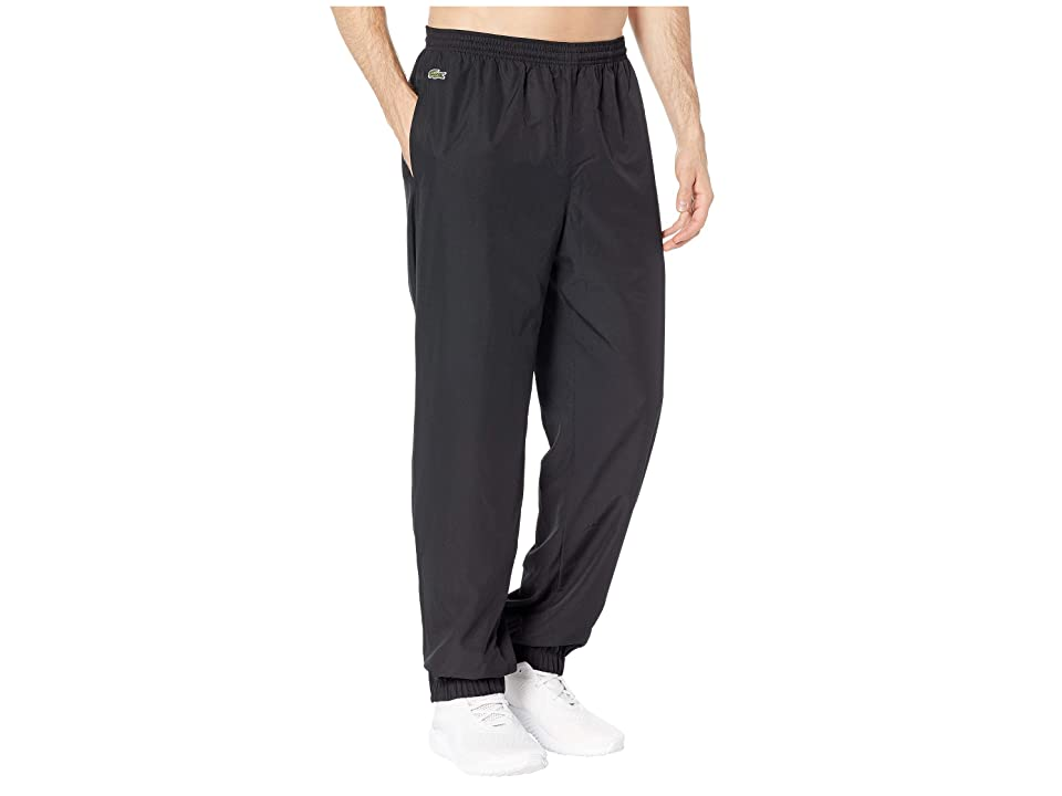 Lacoste Sport Taffeta Pants w/ Side Zip Detail (Black) Men