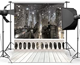 SJOLOON 10x10ft City Night Photography Backdrop Computer Printed Scenic Photography Background Photo Backdrop JLT9416