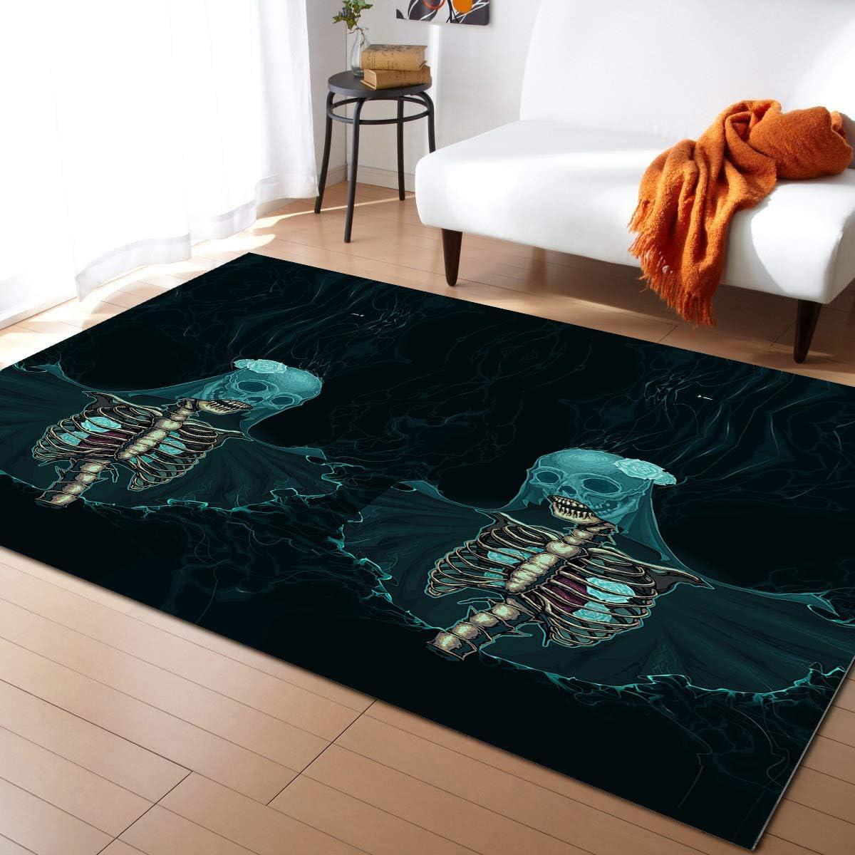 Olivefox 4x6 Feet Area Popular Rug Floor Department store Skeleton I Bride Halloween Mat