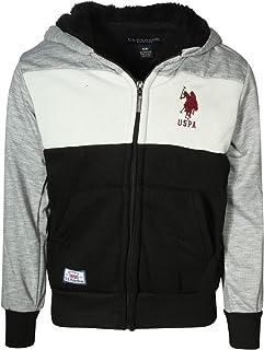 U.S. Polo Assn. Boys Sherpa Lined Hoodie Sweatshirt