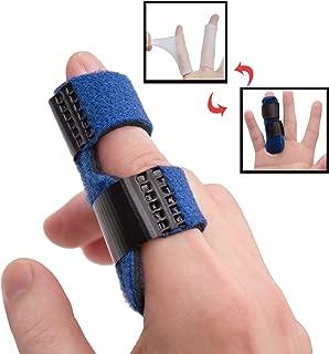 Trigger Finger Splints Plus 2 Gel Sleeves, Finger Knuckle Immobilization, Mallet Finger Brace for Broken Finger for Arthritis Pain, Sport Injuries, Basketball, Baseball, Bowling
