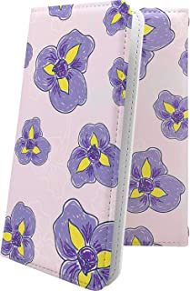 ELUGA V P-06D ケース 手帳型 花柄 花 フラワー パンジー エルーガ 和柄 和風 日本 japan 和 P06D ELUGAV おしゃれ