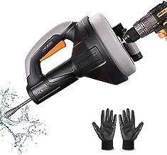 Desatascador de Desagües, TACKLIFE 7,5m Limpieza de desagües, Diámetro de 7mm adecuado para tubos de 19-51mm, ideal herram...