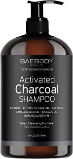 Baebody Activated Charcoal Shampoo - Moisturizing, Volumizing, Gentle on Curly & Color Treated Hair, for Men & Women. Infused with Keratin, Sulfate Free - 16 fl oz.