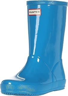 Hunter Kids Original Kids' First Classic Gloss Rain Boot (Toddler) Blue Bottle 7 Toddler