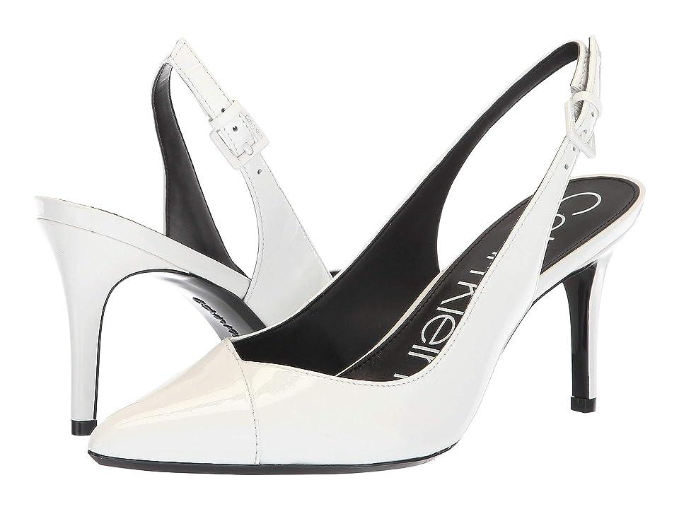 Calvin Klein Gwenith (Platinum White Patent) Women