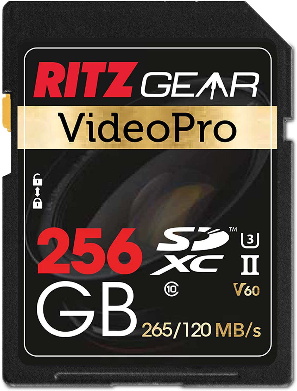 Extreme Performance Video Pro SD Card UHS-II 256GB SDXC Memory Card U3 V60 A1, (R 265mb/s 120mb/s Write)