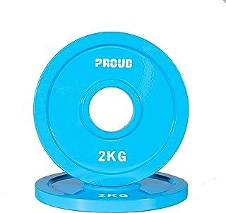 PROUD - Disco de pesas (0,5 kg, 1 kg, 1,5 kg, 2 kg, 2,5 kg y juego)