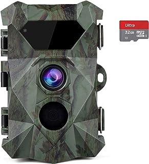 comprar comparacion COOLIFE Cámaras de Caza 2.7K 20MP HD Fototrampeo Distancia de Disparo de hasta 35 m Velocidad de Disparo 0.1s Cámara de Ca...