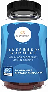 Premium Black Elderberry Gummies – Black Elderberry with Vitamin C & Zinc – Helps Support Immune System – Great Tasting Sa...