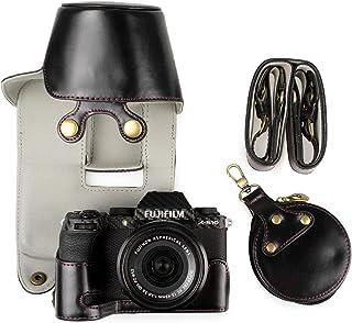 MUZIRI KINOKOO Etui ze skóry PU do FUJI X-S10 i 15-45 mm osłona obiektywu pełne etui Fujifilm X-S10 obudowa dolna obudowa ...