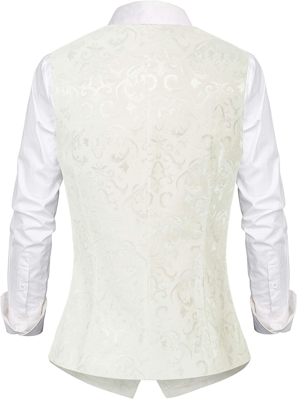 GRACE KARIN Womens Waistcoat Vest Vintage Steampunk Dress Jacquard Jacket