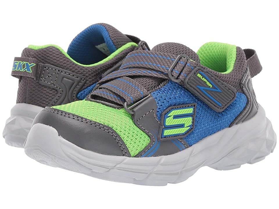SKECHERS KIDS Eclipsor (Toddler/Little Kid) (Charcoal/Blue) Boy