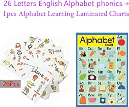 26 Alphabet Flashcards +1 Alphabet Learning Charts for Toddlers | Kids Montessori Learning Educational Toys for Kids- Perfect for Teachers, Parents, ESL - Teacher/Autism Therapists Tools