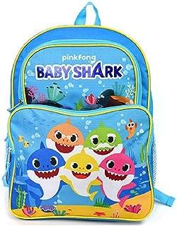 5 Baby Shark 16 Large 2 Pocket Backpack