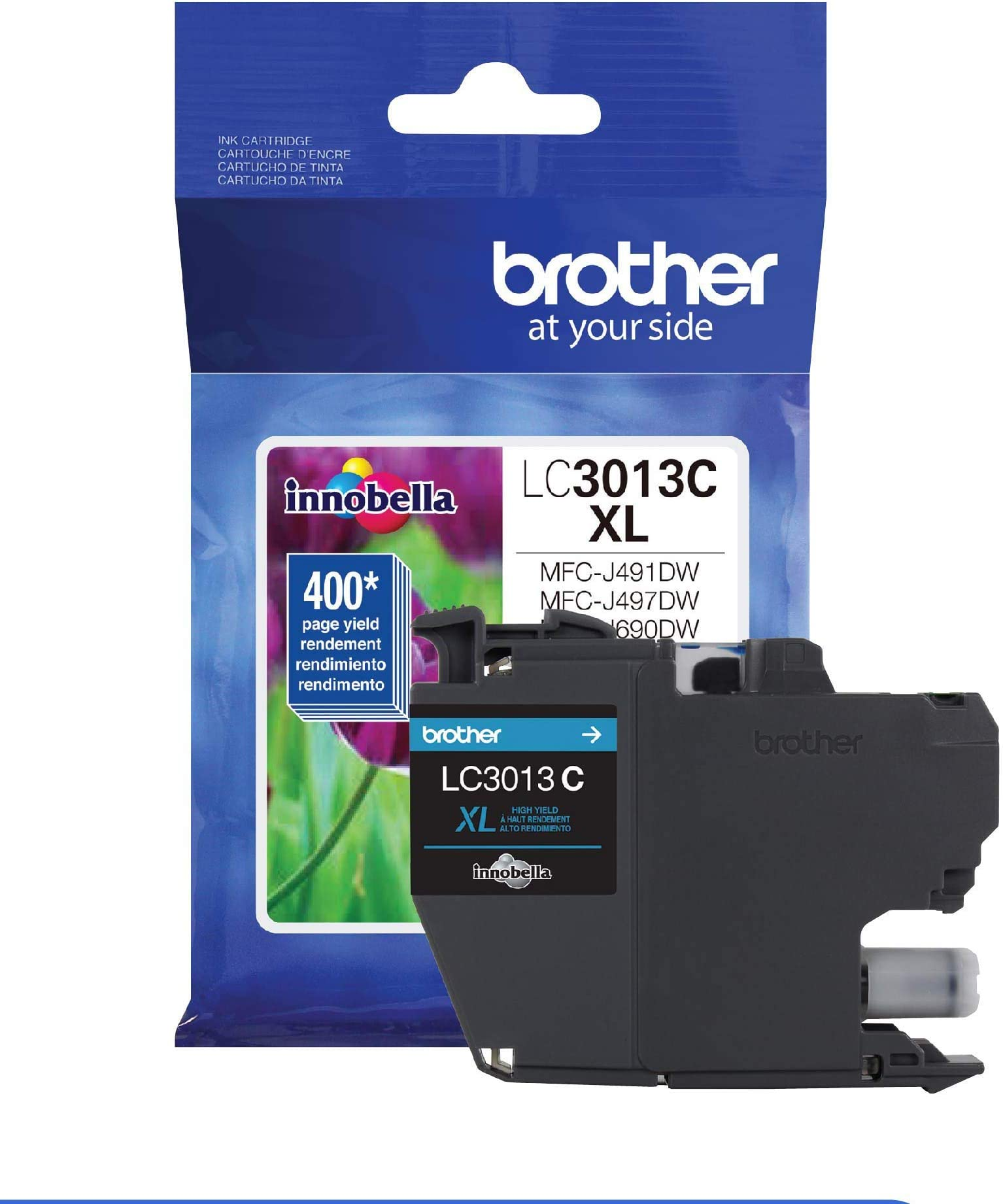 Brother Printer LC3013C Single Pack High Cartridge Yield Up To 400 Pages LC3013 Ink Cyan