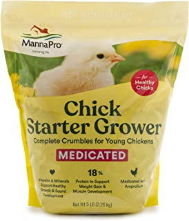 Manna Pro Chick Starter | Medicated Chick feed formulated with Amprolium | Prevents..