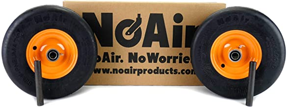 NoAir (2) Scag Flat Free Wheel Assemblies 11x4.00-5 Fits Liberty Freedom Z Part 485207