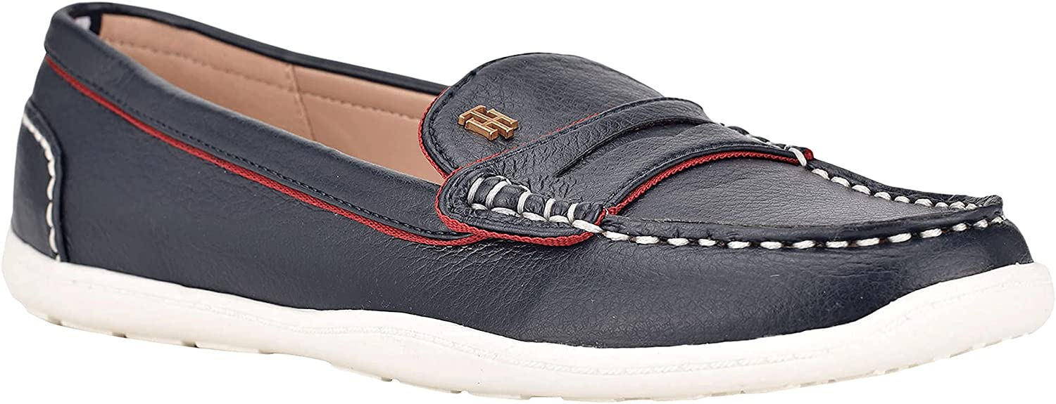 Tommy Hilfiger Women's KAIA Marine Blue Loafer 9.5 Cheap sale Don't miss the campaign