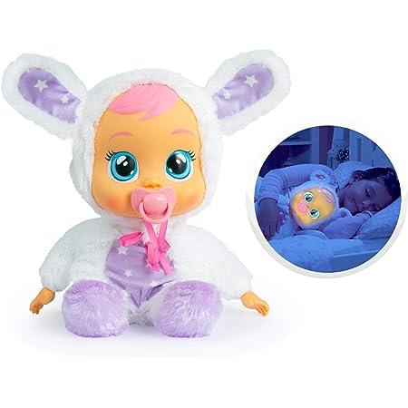 Cry Babies Coney Ninna Nanna, Bambola Morbida Interattiva Piagnucolosa con Luce Notturna e Melodie rilassanti, Giocattolo per Bambini