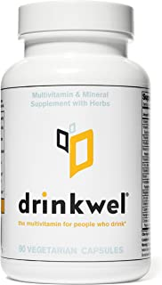 Drinkwel for Hangovers, Liver Support & Detox Multivitamin (90 Capsule)
