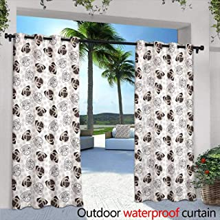 Exterior/Outside Curtains,Vector Hawaiian cute little girl in grass skirt, with hibiscus in hair and flower garland dancing hula, luau party, aloha, tiki, parrot, toucan, palm tree ,W72
