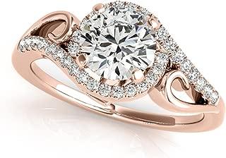 grey diamond rose gold engagement ring