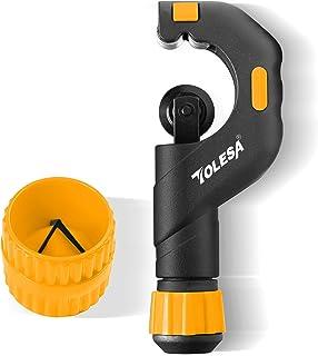 TOLESA ステンレス用 パイプカッター 切断能力5~50mm 面取り パイプリーマー アルミニウム、銅、PVC、薄い鋼管 チューブカッター 2点セット