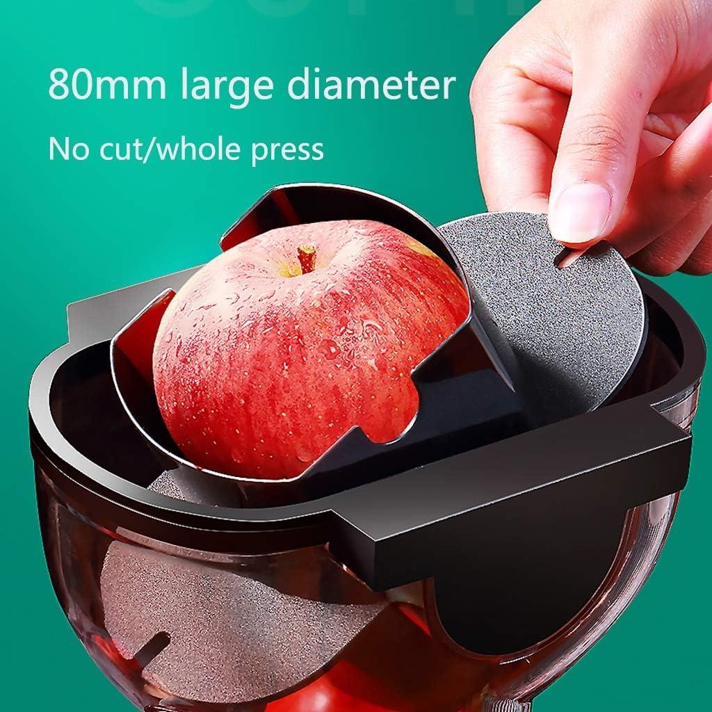 Extracteur de Jus de Fruits et Légumes avec 77mm Large Bouche Presse-Agrumes électriques 2 Tamis for jus Fin ou épais et Sorbet Facile à Nettoyer avec Brosse (Color : B) A