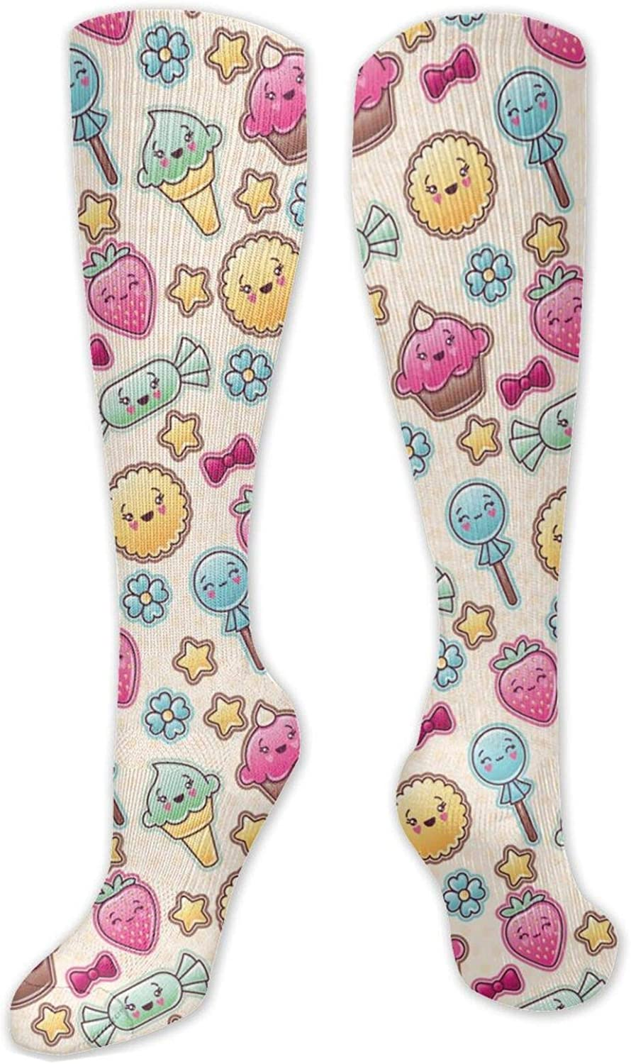 Cute Candy Knee High Socks Leg Warmer Dresses Long Boot Stockings For Womens Cosplay Daily Wear