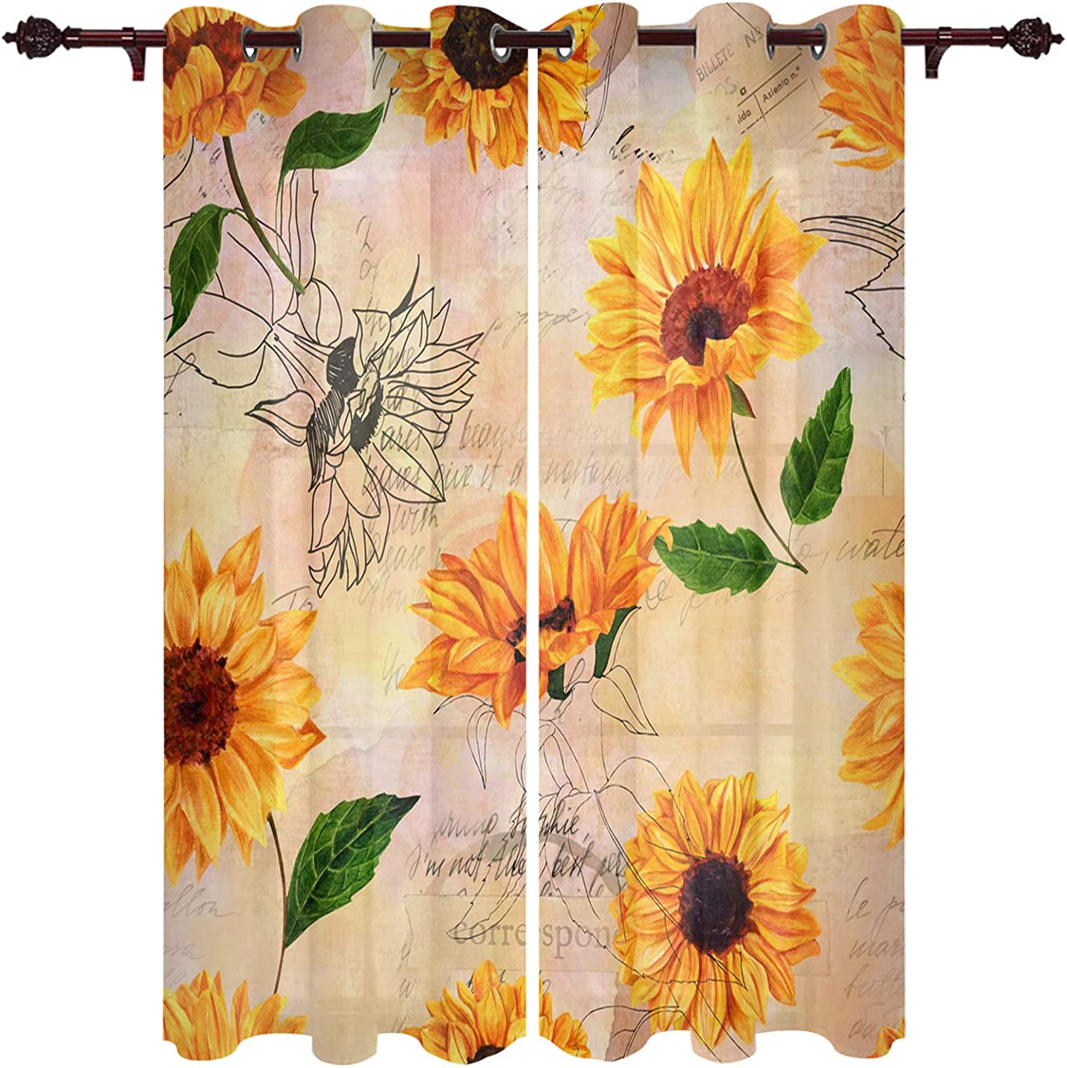 2 Panels New Orleans Mall Set Blackout Super Special SALE held Curtain Rustic Insulated Grommet S Thermal