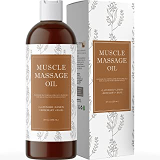 Muscle Pain Massage Oil - Muscle and Joint Pain Relief - Anti Cellulite Massage Oil for Men and Women - Aromatherapy Essen...