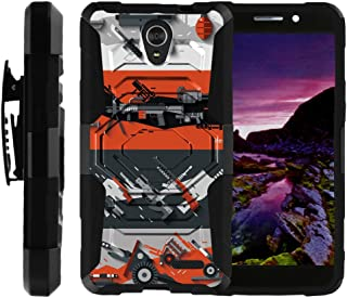 TurtleArmor | Compatible with ZTE Maven 2 Case | ZTE Sonata 3 Case [Octo Guard] Armor Hybrid Hard Shell Tough Kickstand Shock Silicone Holster Belt Clip War and Military - Heavy Artillery