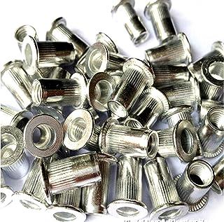 Veda Insatsmutter, gängad nitmutter i aluminium, totalt 100 st, 25 x M4, 25 x M5, 25 x M6, 25 x M8
