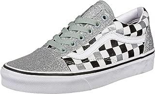 Old Skool (Glitter Checkerboard) Silver/True White