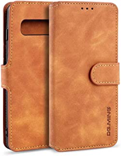 Galaxy S10 Case,Yego Premium PU Leather Wallet Cases with Card Slot Cash Compartment for Samsung Galaxy S10 6.1 Inch(Brown)