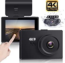 """Lifechaser Dual Dash Cam 4K Front and Rear Car Camera 1080P+1080P, 3"""" OLED Touch Screen WiFi GPS Night Mode 150�, Parking Mode, Time Lapse, WDR, G-Sensor, Loop Recording for Cars, Trucks"""