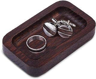 Prazoli Wood Ring Tray - Mens Ring Holder | Mens Gifts for Men | Gifts for Dad Gifts for Men Who Have Everything | Jewelry...